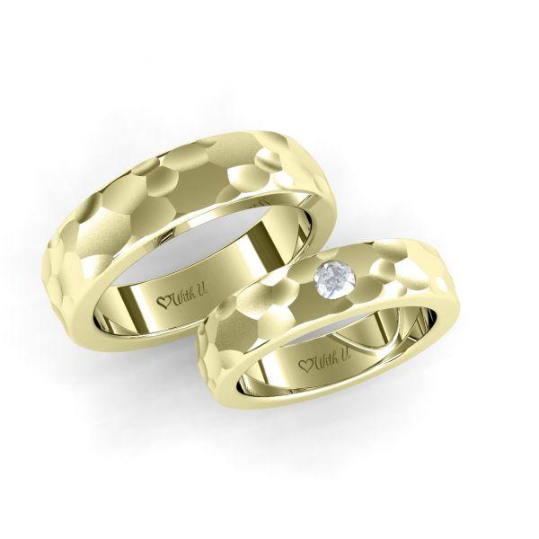 Snubní prsteny Rocks s osobním diamantem