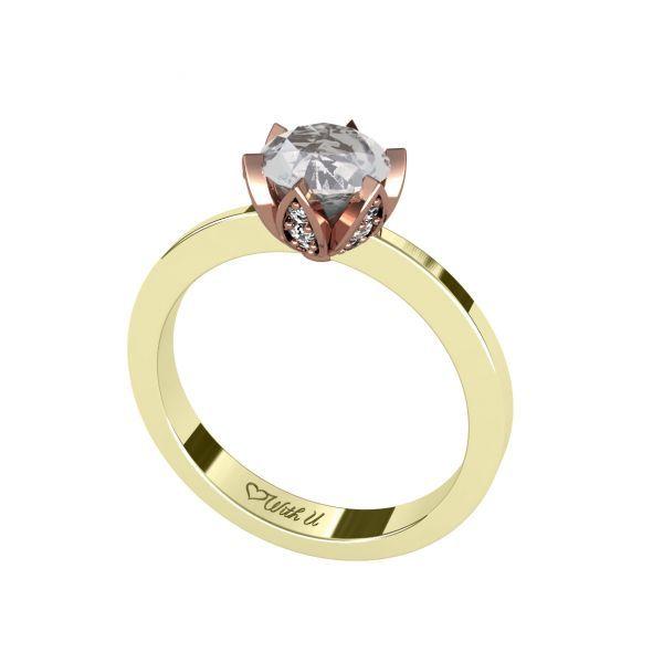 Dámský prsten Crown s osobním diamantem