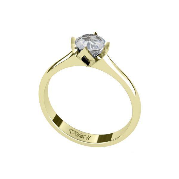 Dámský prsten Sharp Crown s osobním diamantem
