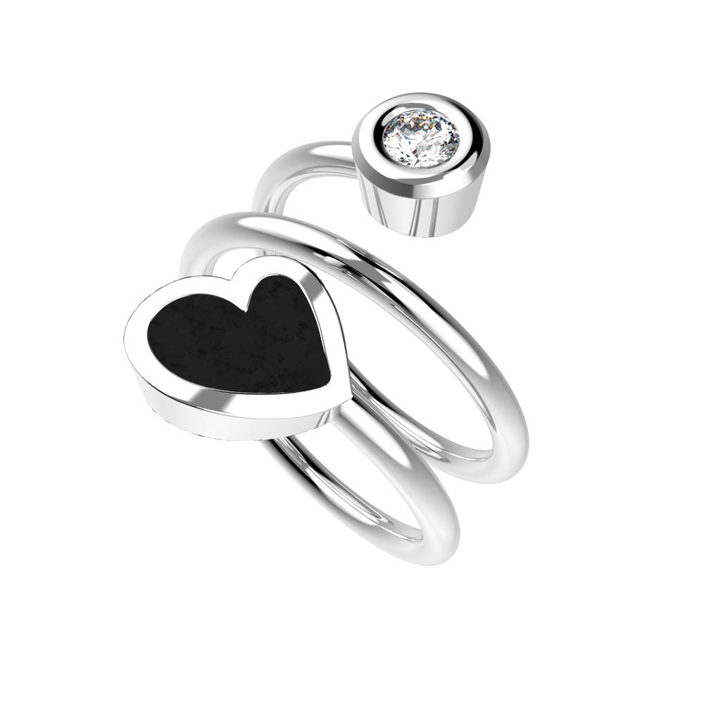 Dámský prsten Heart Twin