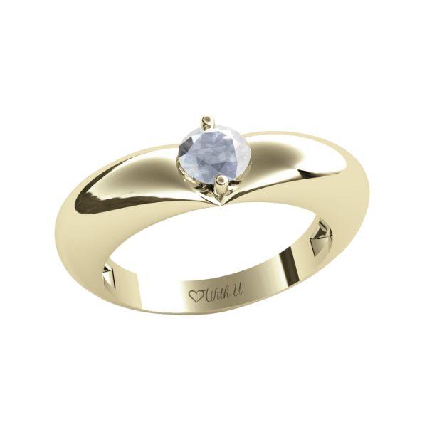 Dámský prsten Heart s osobnim diamantem