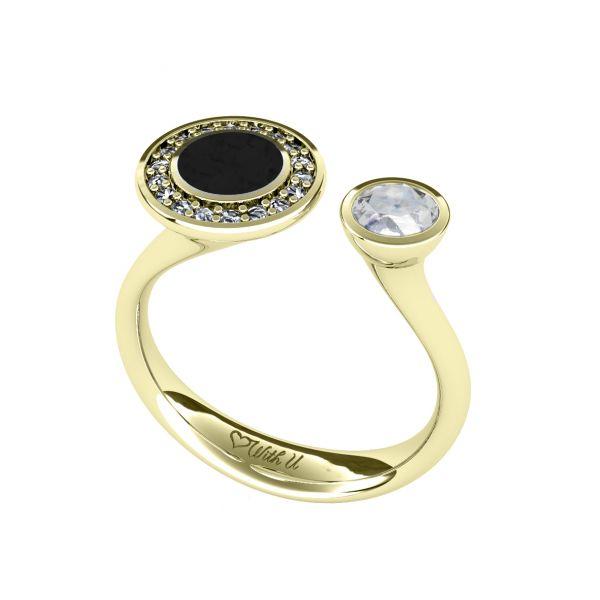 Dámský prsten Snake s diamantem