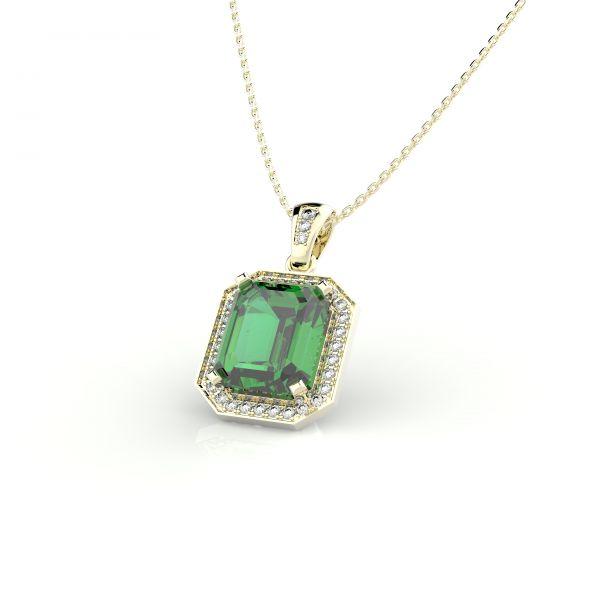 Dámský přívěs na krk Block exclusive s diamanty