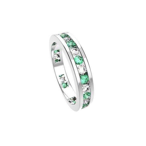 Dámský prsten Eternity s diamanty