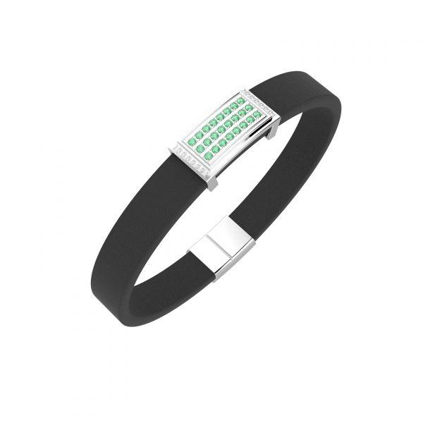 Pánský náramek Oblong Emerald