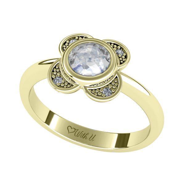 Dámský prsten Cloverleaf s osobním diamantem