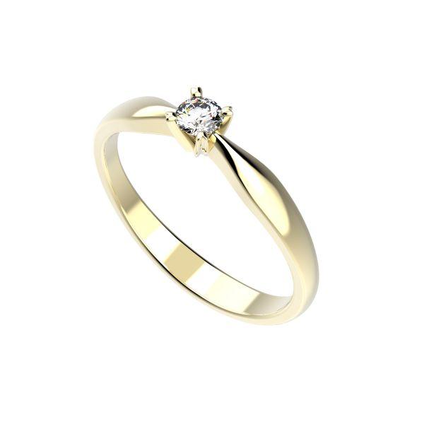 Dámský prsten Screw s osobním diamantem