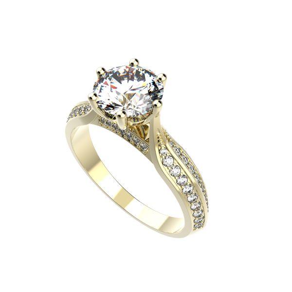 Dámský prsten Tower s osobním diamantem