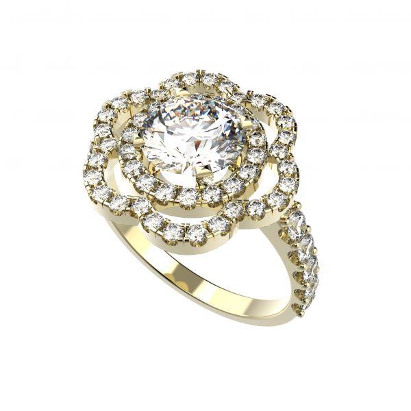 Dámský prsten Bloom s osobním diamantem