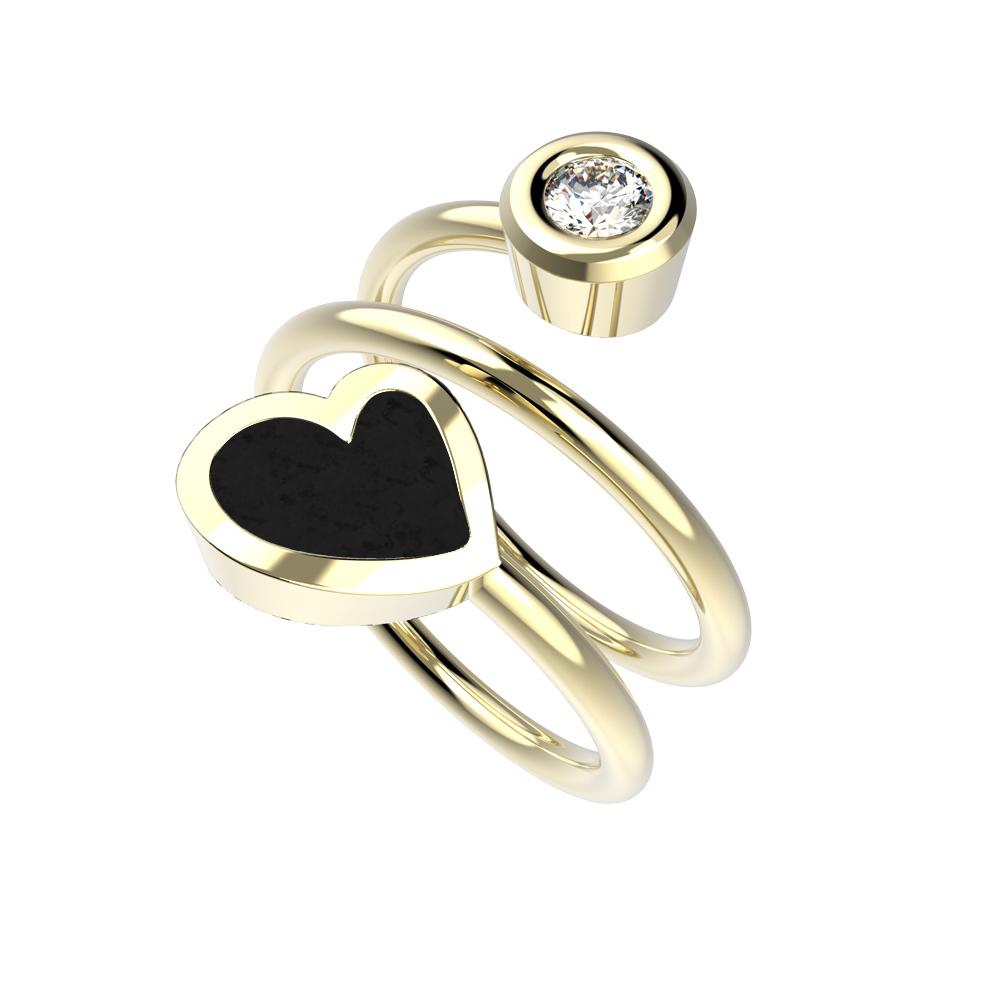 Heart Dámský prsten Twin
