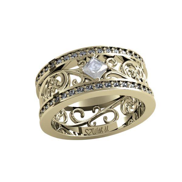 Dámský prsten Ornament I s osobním diamantem