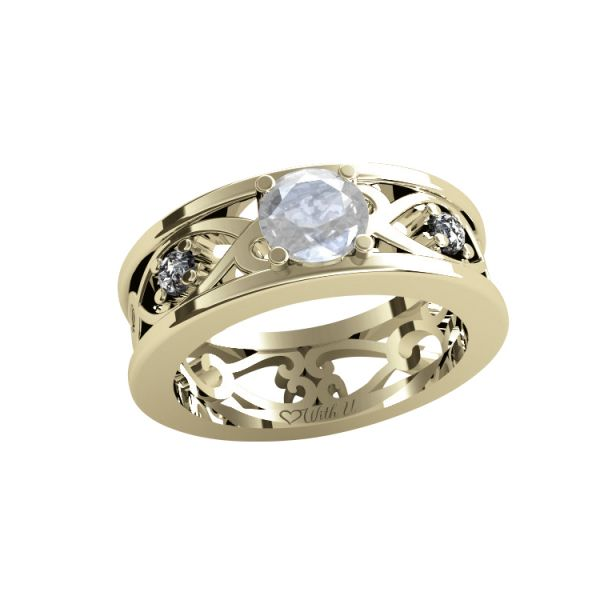 Dámský prsten Ornament II s osobnim diamantem