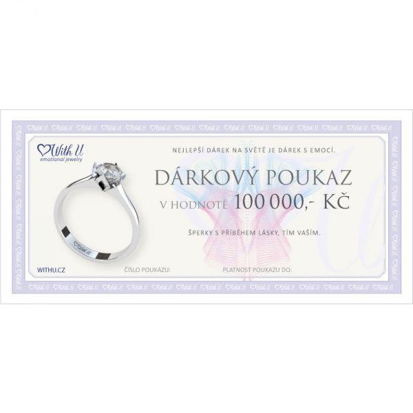 Dárkový poukaz v hodnotě 100000 Kč